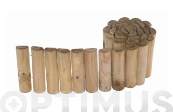 Bordura madera siloux ø5 x 15 x 150cm, espesor 25 mm