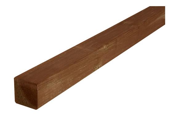 Poste madera cuadrado 7 x 7 x 180 cm marrón