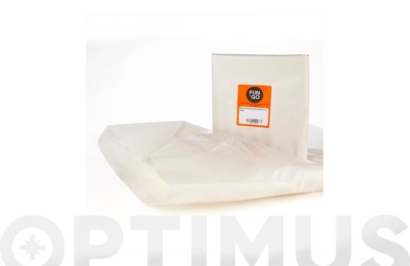 Saco polietileno g300 blanco 10 uds 55 x 75