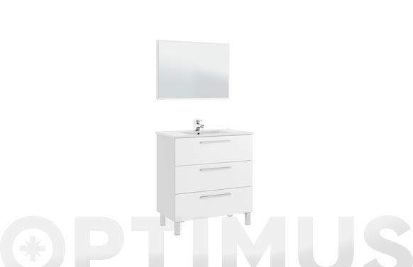 Mueble baño 80cm + espejo athena blanco 80 x 86 x 45 cm