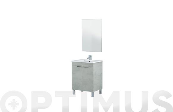 Mueble baño 60cm + espejo lc1-60 cemento 60 x 80 x 45 cm