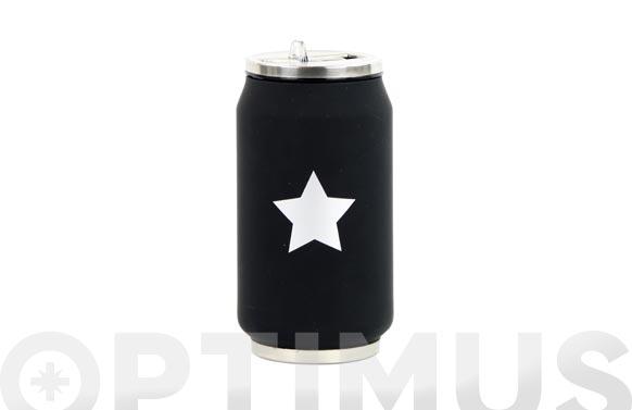 Lata isotermica negra estrella plata 280 ml