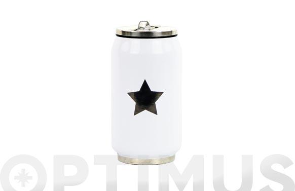 Lata isotermica blanca estrella negra 280 ml