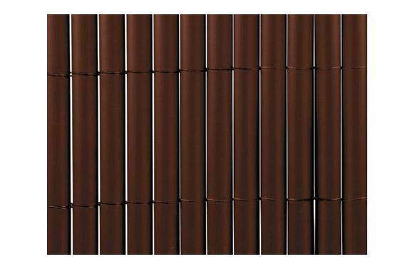 Cañizo sintetico pvc plasticane oval chocolate 1 x 3 m