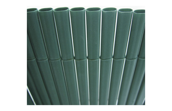 Cañizo sintetico pvc plasticane oval verde 1 x 3 mt