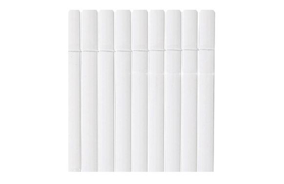 Cañizo sintetico pvc plasticane oval blanco 1 x 3 m