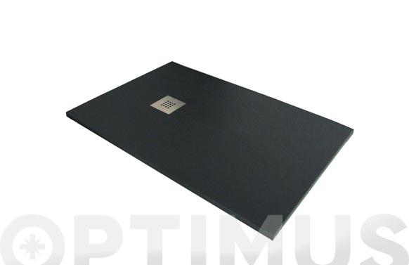 Plato de ducha de resina negro 100 x 70