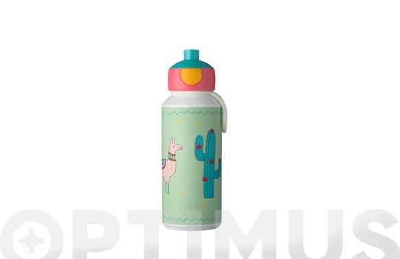 Botella pop-up campus llama 400 ml