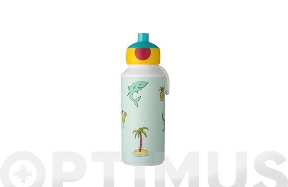 Botella pop-up campus doodle 400 ml