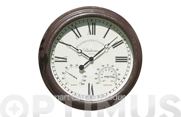 Reloj de pared con termómetro ø 30 cm