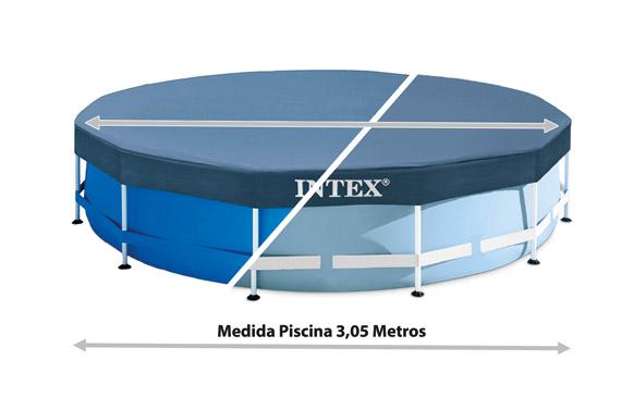 Cubierta piscina redonda metal frame para 9693724 ø 305 cm