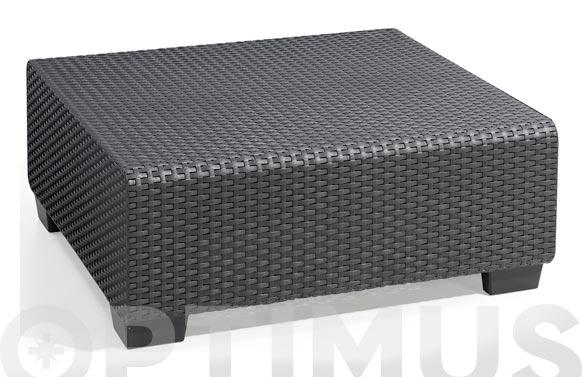 Mesa ratan resina antracita salta 71,5 x 71,5 x 30 cm