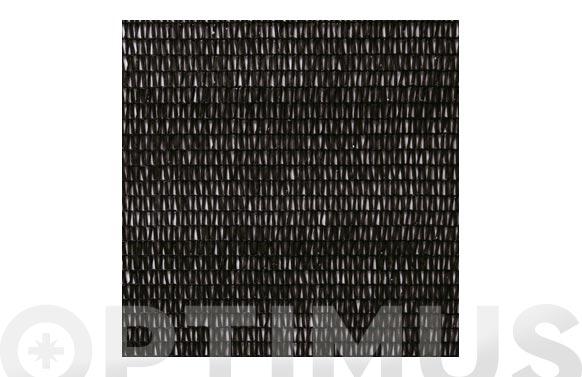 Malla ocultacion pe/rf 80% 1,5 x 5 m negro