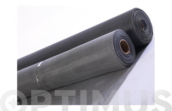 Tela mosquitera fibra vidrio gris 1.20 x 30 mt