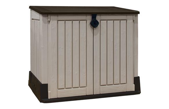 "Cobertizo exterior resina ""store it out"" 130 x 74 x 110 cm 800 lt"