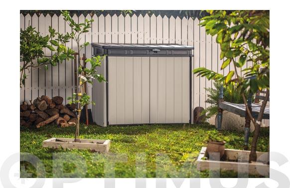 Cobertizo exterior resina premier xl 123.5 x 141 x 82 cm