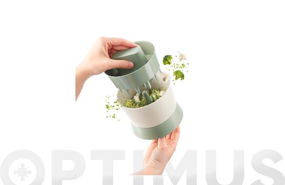 Cortador brocoli veggie ricer verde