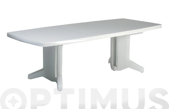 Mesa resina extensible resina 180-230 x 100 cm blanco