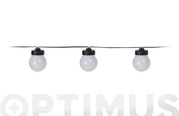Guirnalda led 20 lamparas ø 5 cm microled luz blanca 3m