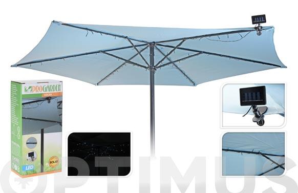 Guirnalda led solar 72 leds para parasol 300 cm