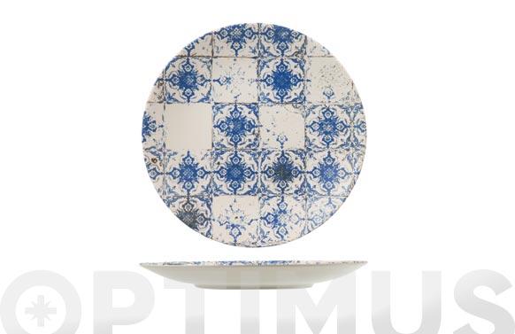Plato stoneware lotus llano 28 cm