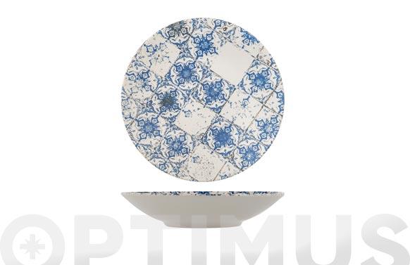 Plato stoneware lotus hondo 21,5 cm