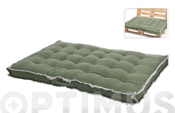 Cojin asiento para palet verde 120 x 80 x 8 cm