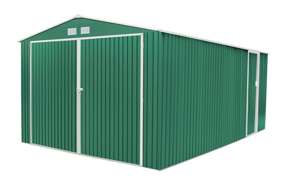 Garaje metalico oxford verde 20,52 m2 a380 x f540 x h232 cm