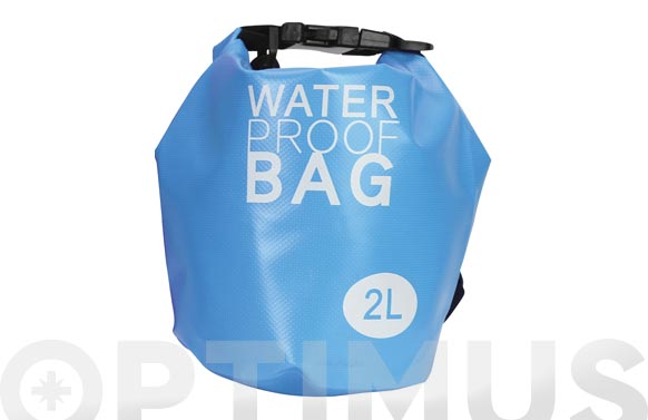 Bolsa impermeable playa colores surtidos 2 l