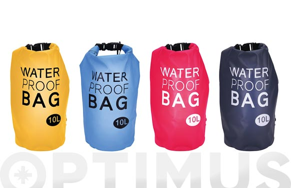 Bolsa impermeable playa colores surtidos 10 l