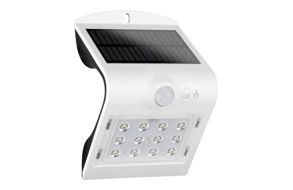 Aplique solar 220 lm blanco