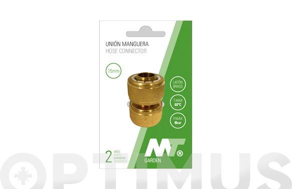 Enlace reparador laton para manguera ø 19 mm