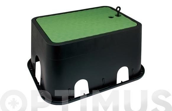 Arqueta rectangular para 3 electrovalvulas