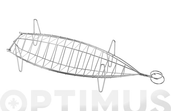 Parrilla besuguera inox 60 x 19 x 14cm