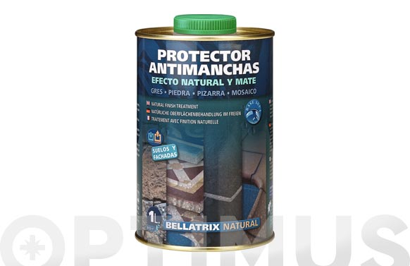 Protector antimanchas con efecto natural bellatrix natural 1 l
