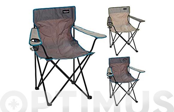 Silla plegable con brazos camping de tela 81 x 51 x 42 cm