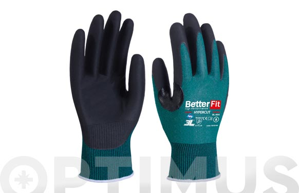 Guante better fit hypercut con refuerzo proteccion t 10 nitrilo en palma