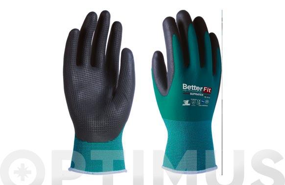 Guante better fit supratex con excelente agarre t 7 latex foam texturizado en palma