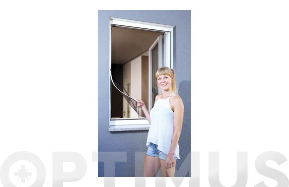 Mosquitera ventana marco flexible magnetico 100 x 120 cm blanco