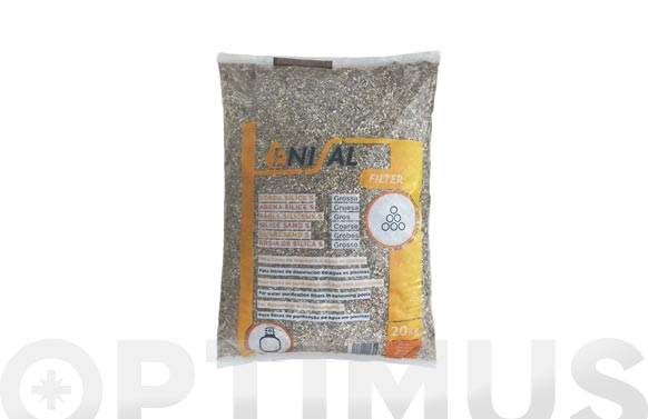 Arena silice gruesa 's' saco 20 kg