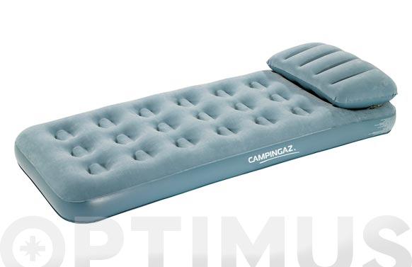 Colchon-cama hinchable con almohada individual 74 x 188 x 19