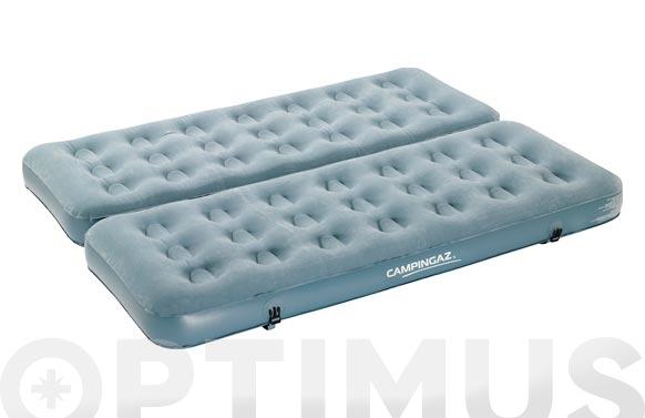 Colchon-cama hinchable convertible 2 en 1 2 x (74 x 188 x 19)