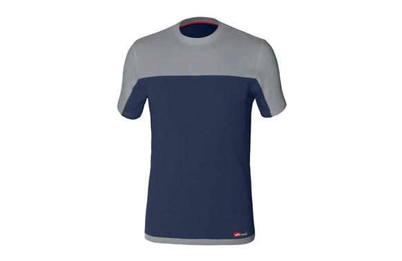 Camiseta bicolor stretch azul-gris t. xl