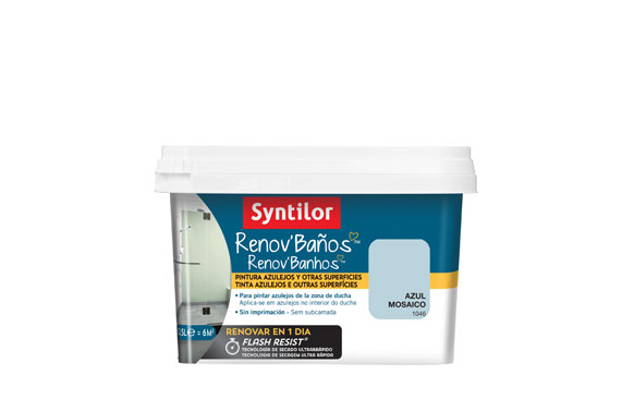 Pintura baño renov flash resist azul mosaico sati 500 ml
