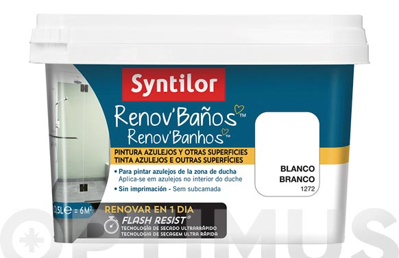 Pintura baño renov flash resist blanco 500 ml