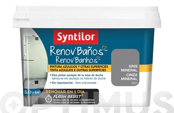 Pintura baño renov flash resist gris mineral 500 ml