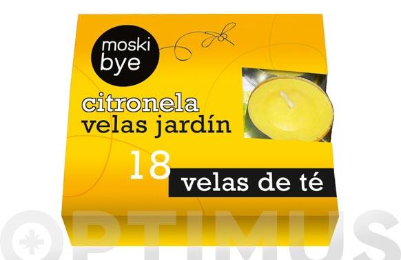 Vela de te (pack 18u) con citronela