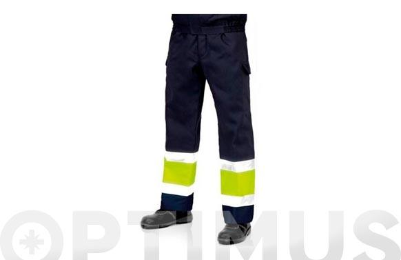 Pantalon tergal alta visibilidad 225 grs t 56 azul marino
