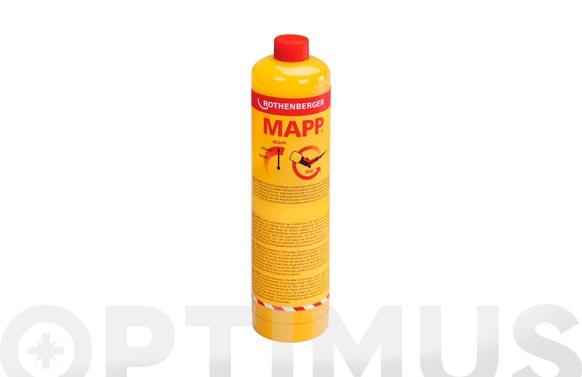 """Cartucho gas con valvula 750 ml mapp gas 7/16"""""""