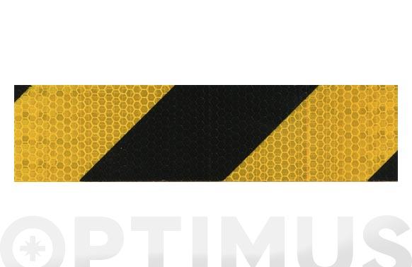 Cinta adhesiva señalizacion reflectante 33 m x 50 mm amarilla/negra